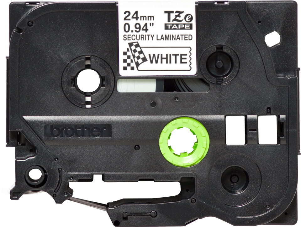 Originele Brother TZe-SE5 veiligheidstape – zwart op wit, breedte 24 mm 3
