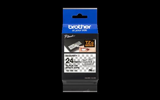 Brother TZeSE5: оригинальная лента для печати наклеек, черным на белом фоне, ширина: 24 мм. 4