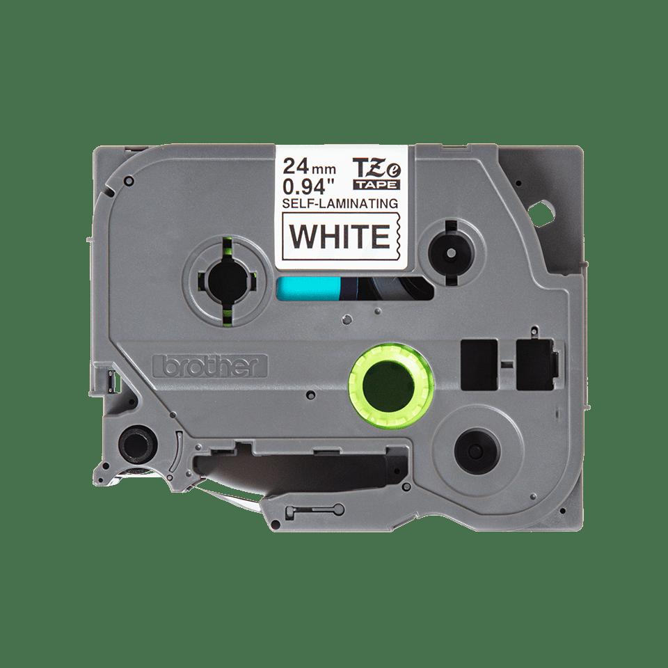 Originele Brother TZe-SL251 zelflaminerende label tapecassette - zwart op wit, breedte 24 mm 2