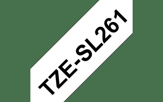 Originele Brother TZe-SL261 zelflaminerende label tapecassette - zwart op wit, breedte 36 mm