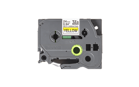 Genuine Brother TZe-SL651 Self-Laminating Labelling Tape Cassette – Black on Yellow, 24mm wide 2