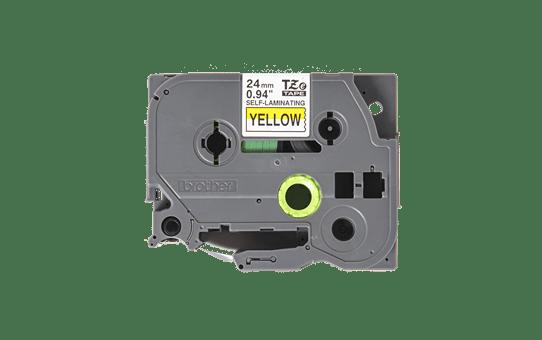 Originele Brother TZe-SL651 zelflaminerende label tapecassette - zwart op geel, breedte 24 mm 2