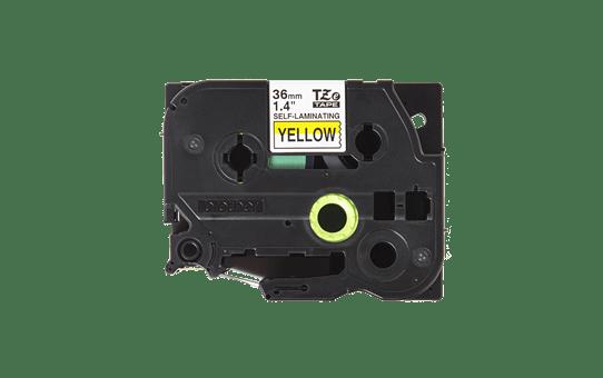 Originele Brother TZe-SL661 zelflaminerende label tapecassette - zwart op geel, breedte 36 mm 2