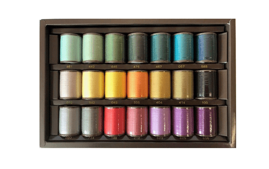 Brother Country  Embroidery Thread set CYT22 - 22 colours