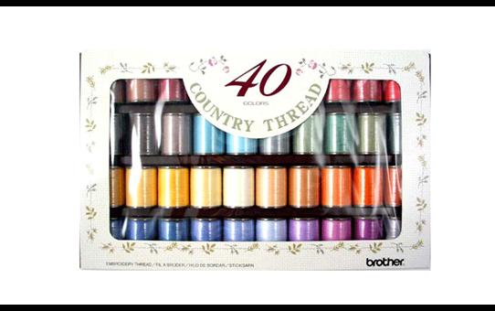 Set filati opachi da ricamo (Country) Brother CYT40 - 40 colori