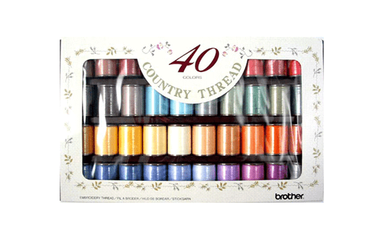 Brother Country  Embroidery Thread set CYT40 - 40 colours