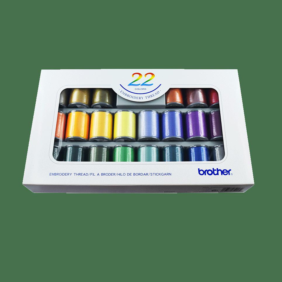 Brother Stickgarn-Set ETS22N - 22 Farben