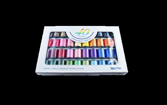 Set filati da ricamo Brother ETS40N - 40 colori