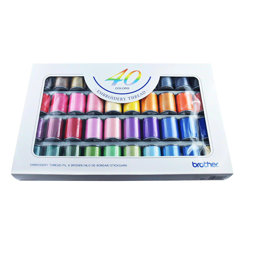 Brother Embroidery Thread set ETS40N - 40 colours