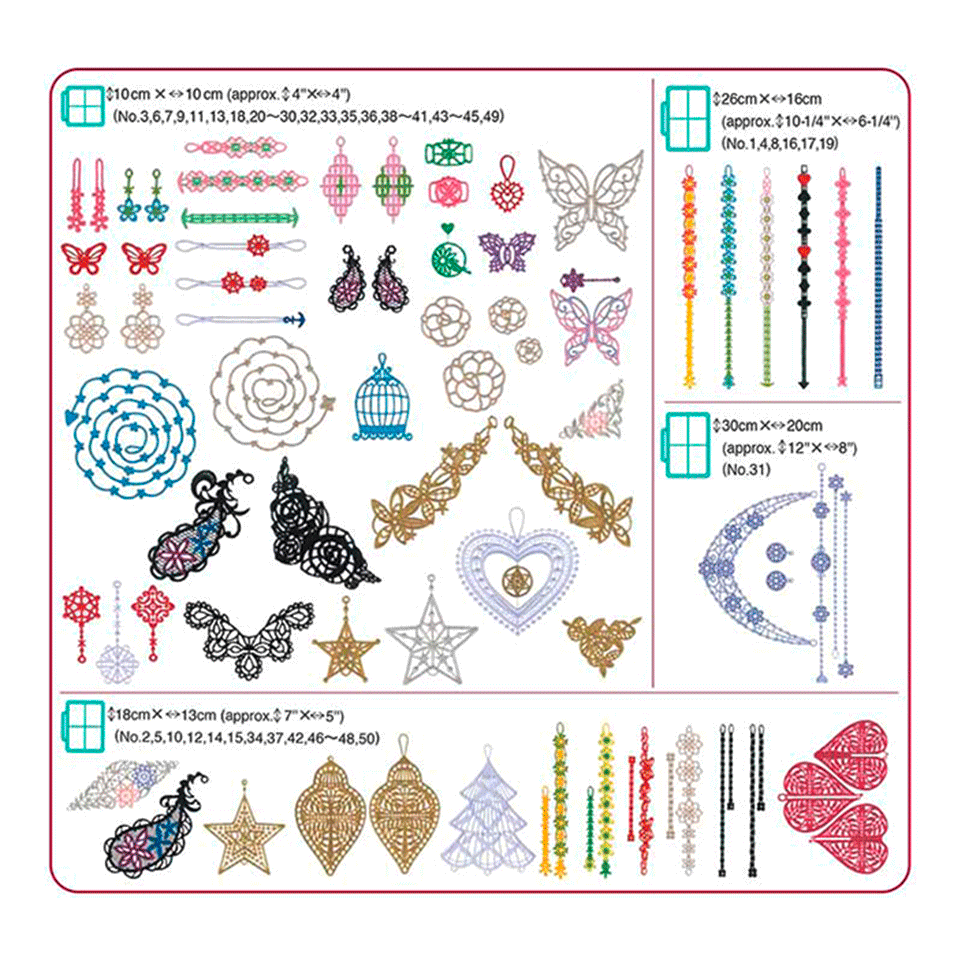 Collection de motifs de broderie n° 13 BLECUSB13 2