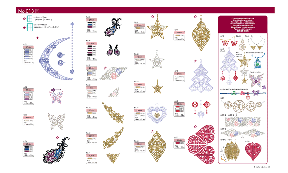Collection de motifs de broderie n° 13 BLECUSB13 4