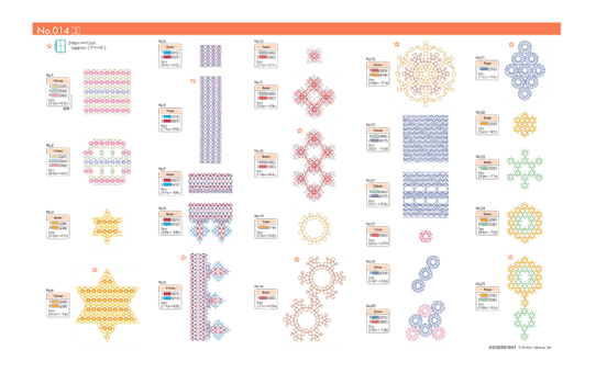 Collection de motifs de broderie n°14 BLECUSB14 7