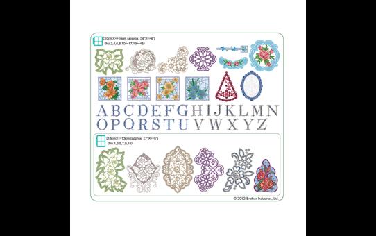 Collection de motifs de broderie n°8 BLECUSB8 2