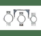 Trois cadres de broderie ronds PRPRFK1 gris pour machine PR