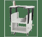 Table à broder mobile et espace de rangement pour les accessoires