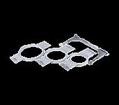 Trois cadres de broderie ronds VRRFK1 gris pour machine VR