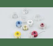 Canettes en plastique transparent avec clips BCL
