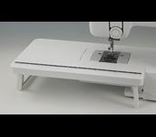 Table d'extension blanche WT13 fixée à la machine