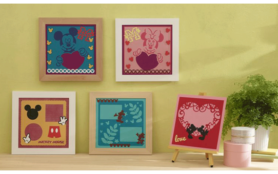 Collection de créations en papier «Mickey et Minnie» CADSNP01 3