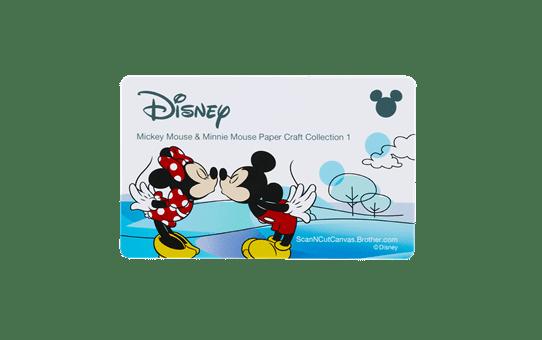 Collection de créations en papier «Mickey et Minnie» CADSNP01 2