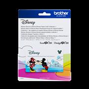 Mickey Maus und Minnie Maus Mustersammlung für Papiermodelle
