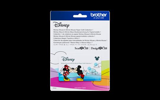 Collection de créations en papier «Mickey et Minnie» CADSNP01