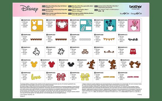 Collection de créations en papier «Mickey et Minnie» CADSNP01 6
