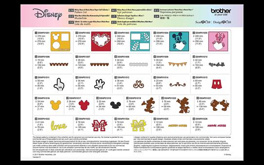 Disney Mickey & Friends papierpatrooncollectie CADSNP01 6
