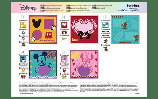Collection de créations en papier «Mickey et Minnie» CADSNP01 7