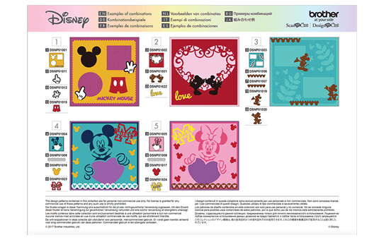 Collezione disegni Disney Mickey Mouse and Friends CADSNP01 7