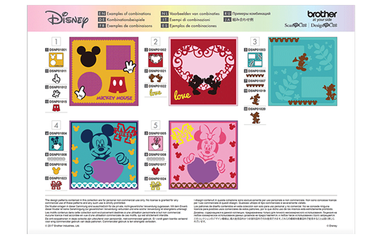 Disney Mickey & Friends papierpatrooncollectie CADSNP01 7