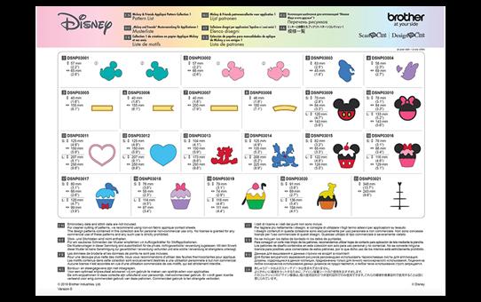 Disney Mickey & Friends applicatiepatrooncollectie CADSNP03 8