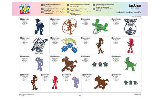 Collection de motifs Disney Toy Story CADSNP05 6