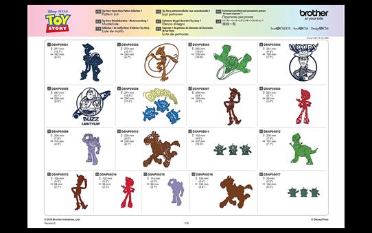 "Disney Musterkollektion ""Toy Story"" für Heimdecor CADSNP05 6"