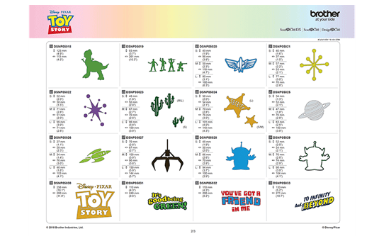 Disney Toy Story Home deco design collection CADSNP05 7