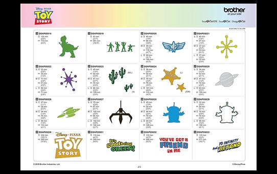 Collection de motifs Disney Toy Story CADSNP05 7