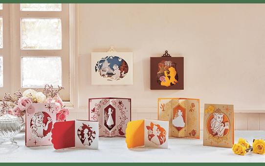Collection de créations en papier Blanche Neige et Belle de Disney CADSNP06 2