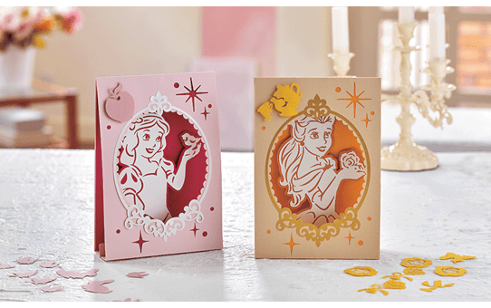Collection de créations en papier Blanche Neige et Belle de Disney CADSNP06 3