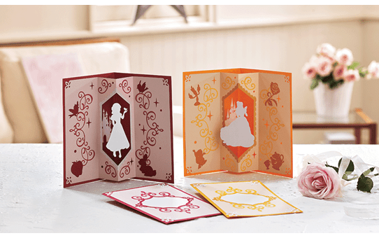 Collection de créations en papier Blanche Neige et Belle de Disney CADSNP06 4