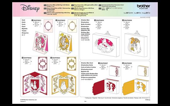 """Disney Musterkollektion """"Schneewittchen und Belle"""" für Papier CADSNP06 9"""