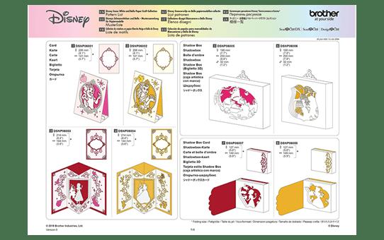 Disney Sneeuwwitje en Belle papierpatrooncollectie CADSNP06 9