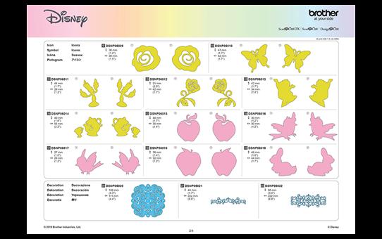 Collection de créations en papier Blanche Neige et Belle de Disney CADSNP06 10
