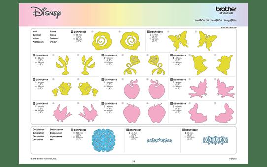 Collezione di disegni Biancaneve e Belle Disney CADSNP06 10