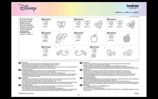 Collezione di disegni Biancaneve e Belle Disney CADSNP06 11