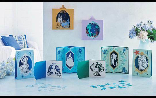 Collection de motifs Cendrillon et Ariel de Disney CADSNP07 2