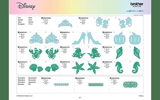 Collection de motifs Cendrillon et Ariel de Disney CADSNP07 10
