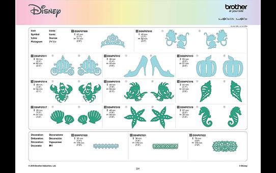Collezione disegni Disney Cinderella e Ariel CADSNP07 10