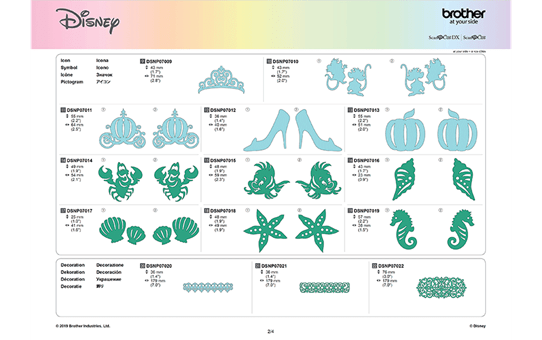 Disney Cinderella and Ariel Paper design collection CADSNP07 10