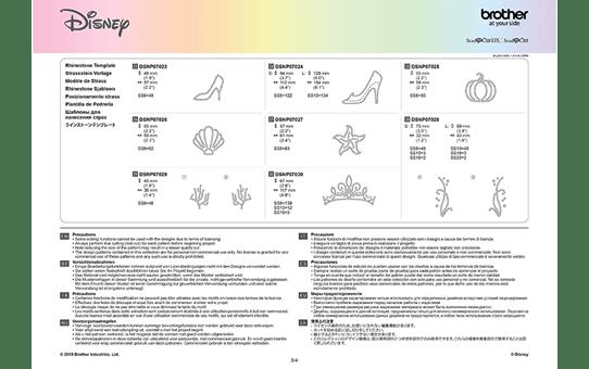 Collection de motifs Cendrillon et Ariel de Disney CADSNP07 11