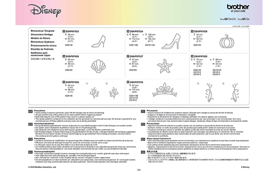Disney Cinderella and Ariel Paper design collection CADSNP07 11